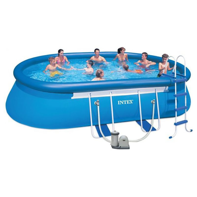 18FT X 10FT X 42IN  28192-  OVAL FRAME POOL SET